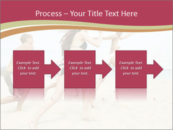 Group of five friends running together PowerPoint Template - Slide 88