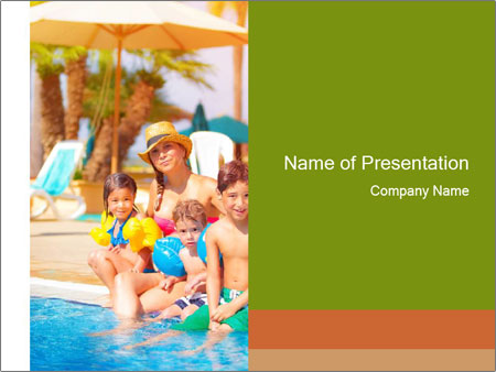 Big family relaxed PowerPoint Template