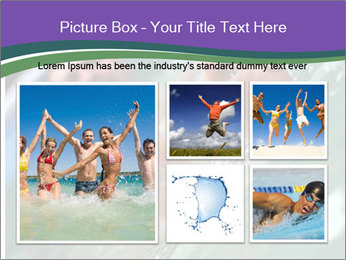 View of bare male feet at swimming pool PowerPoint Template - Slide 19