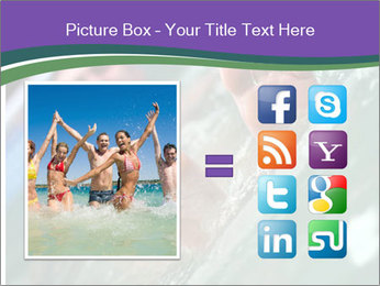 View of bare male feet at swimming pool PowerPoint Template - Slide 21