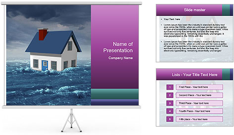 House flood insurance concept PowerPoint Template