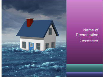House flood insurance concept PowerPoint Template - Slide 1
