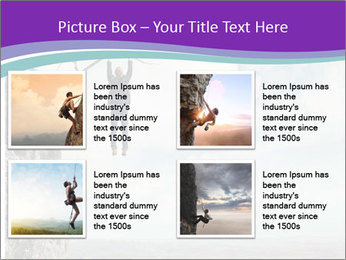 Business man climbs PowerPoint Template - Slide 14