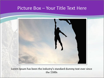 Business man climbs PowerPoint Template - Slide 15