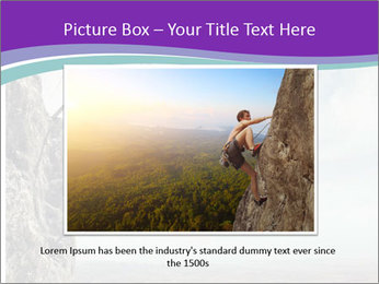 Business man climbs PowerPoint Template - Slide 16