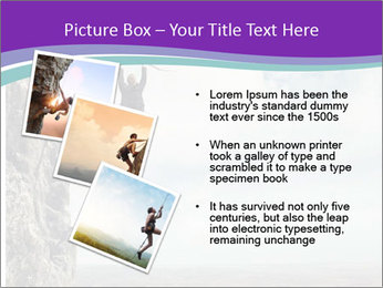 Business man climbs PowerPoint Template - Slide 17