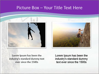 Business man climbs PowerPoint Template - Slide 18