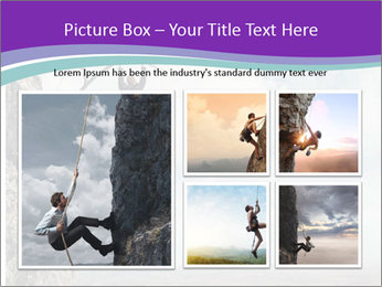 Business man climbs PowerPoint Template - Slide 19