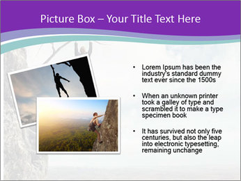 Business man climbs PowerPoint Template - Slide 20