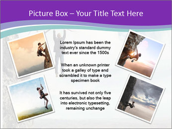 Business man climbs PowerPoint Template - Slide 24