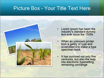 Rice field in valley PowerPoint Template - Slide 20