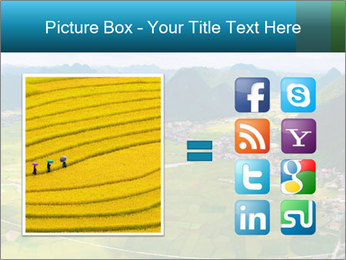 Rice field in valley PowerPoint Template - Slide 21