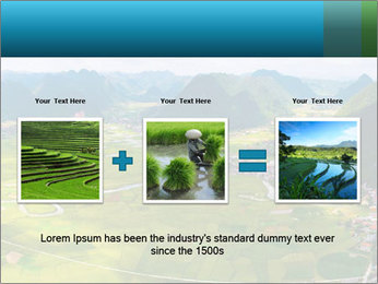 Rice field in valley PowerPoint Template - Slide 22