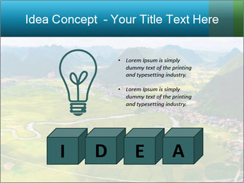 Rice field in valley PowerPoint Template - Slide 80