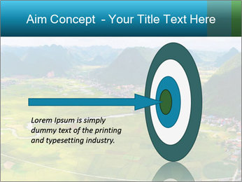Rice field in valley PowerPoint Template - Slide 83