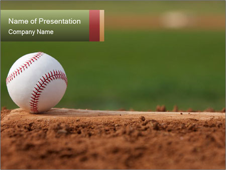 Baseball Powerpoint Template Backgrounds Id 0000088180