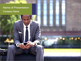 Portrait of American Businessman PowerPoint Template