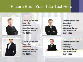 Portrait of American Businessman PowerPoint Template - Slide 14