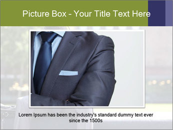 Portrait of American Businessman PowerPoint Template - Slide 15