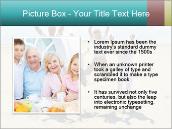Portrait of a cheerful boys with his grandparents PowerPoint Template - Slide 13