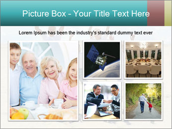 Portrait of a cheerful boys with his grandparents PowerPoint Template - Slide 19