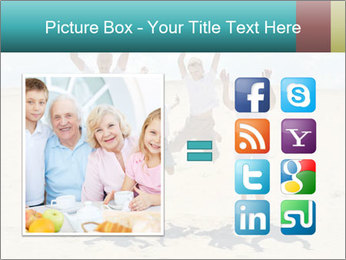 Portrait of a cheerful boys with his grandparents PowerPoint Template - Slide 21