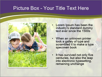 Low section of little boy and girl relaxing PowerPoint Templates - Slide 13