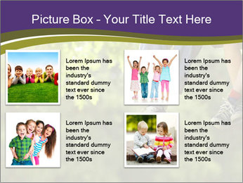 Low section of little boy and girl relaxing PowerPoint Templates - Slide 14