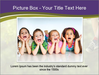 Low section of little boy and girl relaxing PowerPoint Templates - Slide 15