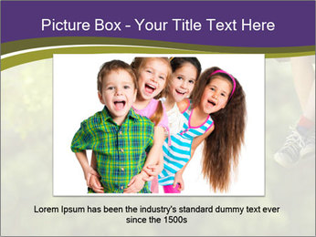 Low section of little boy and girl relaxing PowerPoint Templates - Slide 16