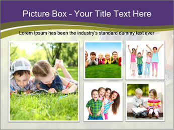 Low section of little boy and girl relaxing PowerPoint Templates - Slide 19