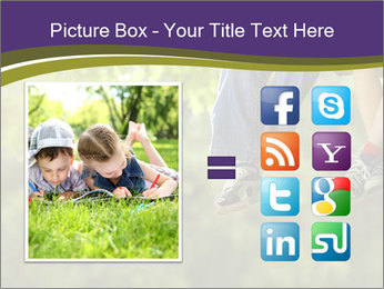 Low section of little boy and girl relaxing PowerPoint Templates - Slide 21