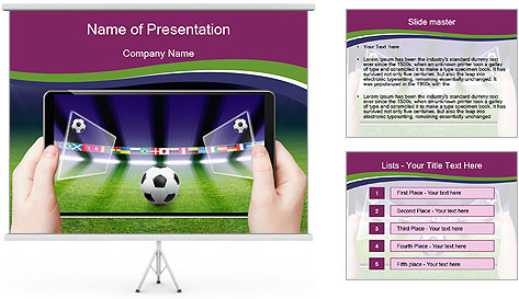 Abstract technology background PowerPoint Template