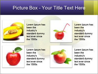 Beautiful and appetizing of green-yellow mangoes PowerPoint Templates - Slide 14