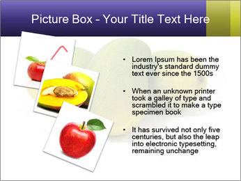Beautiful and appetizing of green-yellow mangoes PowerPoint Templates - Slide 17