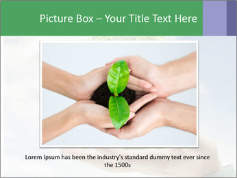 Small tree in a hand businessman PowerPoint Template - Slide 15