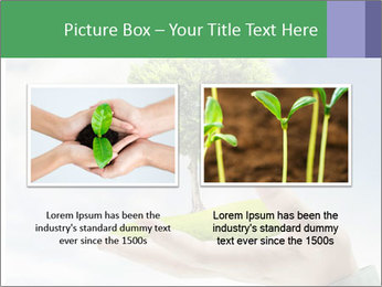 Small tree in a hand businessman PowerPoint Template - Slide 18