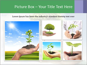 Small tree in a hand businessman PowerPoint Template - Slide 19