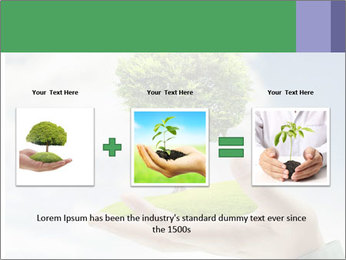 Small tree in a hand businessman PowerPoint Template - Slide 22