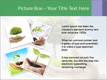 Small tree in a hand businessman PowerPoint Template - Slide 23