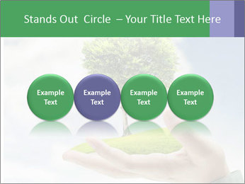 Small tree in a hand businessman PowerPoint Template - Slide 76