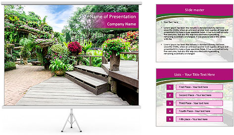Garden flowers PowerPoint Template