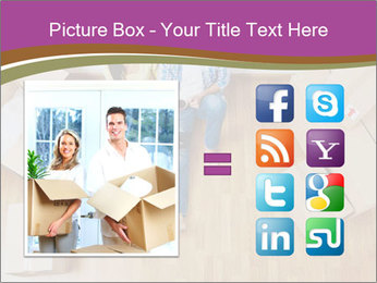 Overhead view of couple moving in to new home PowerPoint Template - Slide 21