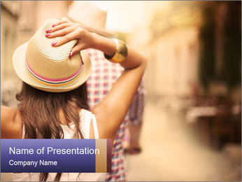 Couple riding PowerPoint Template