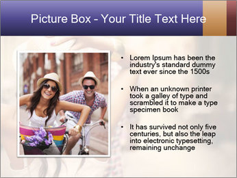Couple riding PowerPoint Template - Slide 13