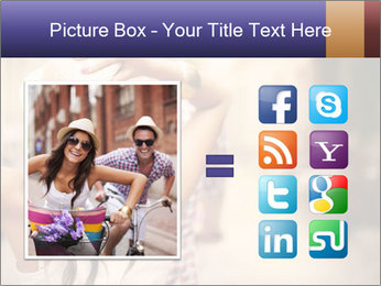 Couple riding PowerPoint Template - Slide 21