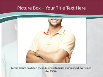 Closeup portrait of a happy Asian/Chinese man looking to left PowerPoint Templates - Slide 15