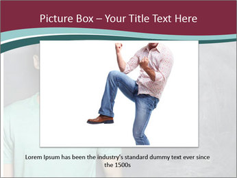 Closeup portrait of a happy Asian/Chinese man looking to left PowerPoint Template - Slide 16