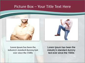 Closeup portrait of a happy Asian/Chinese man looking to left PowerPoint Template - Slide 18