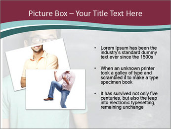 Closeup portrait of a happy Asian/Chinese man looking to left PowerPoint Template - Slide 20